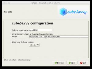 cubeSavvy config/install