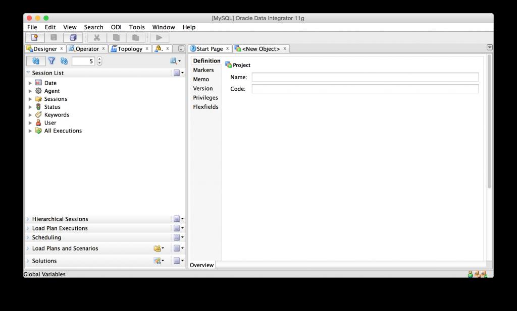 ODI Studio running on Mac OS X
