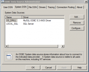 ODBC connections in Windows to be used by Essbase data loads