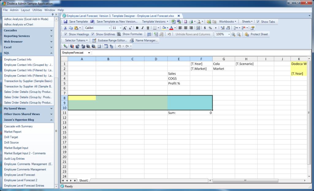 SQL input range